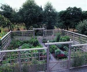 Deer proof vegetable garden fence